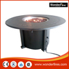 """54""""x 54"""" Round Conversational Patio Seating with Fire Table"""