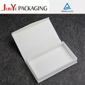 madera de embalaje de cuero caja de regalo blanco forma de libro