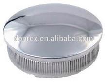 Stainless steel handrail metal end cap