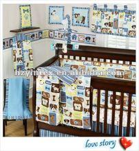 Monkey Six Piece Crib bedding Set