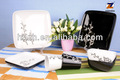 16 pcs serigrafia cerâmica decalques black white louça quadrados de cerâmica set