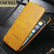 """Fashion design crazy horse skin leather flip cover case for iphone 6 4.7"""" Factory price"""