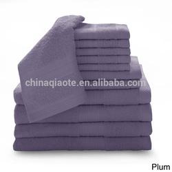 solid color organic cotton bath towel