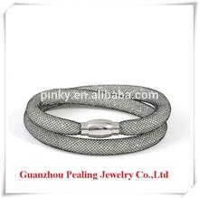 High quality fashion white resin crystal stardust bracelet 2014 new trend bracelet