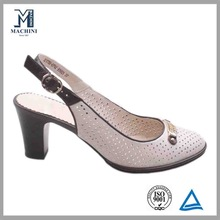 Fashion girls beige dress shoes lady leather shoe