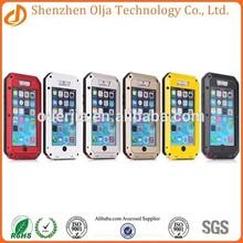 Metal Aluminum Shockproof Gorilla Glass waterproof case for iphone 6, for iphone 6 waterproof case, for iphone 6 case