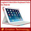 Original Logitech FabricSkin Keyboard Folio for iPad Air