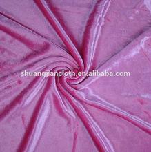 95% polyster+5%spandex korea velvet fabric
