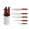 Kitchen knife utensil set in color EVA wooden holder