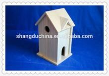 Eco-friendly FSC customized decorative wooden bird cage wood bird house