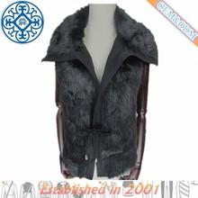 winter black fake fur vest from china