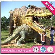 Artificial fiberglass life size dinosaur