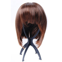 fashion design plastic black/pink wig stand
