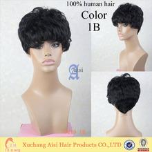 0219 wholesale cheap brazilian vrigin short human hair wig, black women brazilian hair not full lace wig,cheap