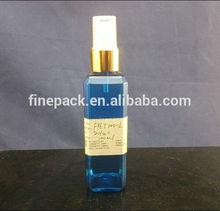 100ml plastic square perfume bottle with mist spray