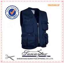 Highest quality Custom OEM Multi Pocket outdoor men vest cotton by SUNNYTEX