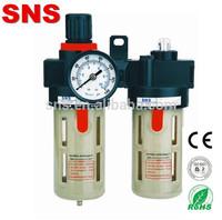 Air Source Treatment/Pneumatic Water Filter Regulator BFC4000, Pressure air oil hepa cartridge filter combination A/B Series