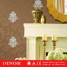 Oriental style wallpaper plant design pvc non-woven wall paper