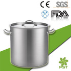 High Body Stainless Steel Body Aluminum Bottom Kitchen Restaurant Usage Large Stock Pot Sauce Pan Stockpot Saucepan with Lid