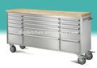 15 Drawers Steel Tool Box Garage Car Repair Tool Trolley