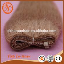 2014 Hot selling new arrival virgin hair flip in hair