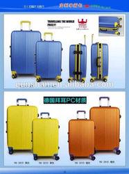 Aluminum buckle luggage trolley case,hard luggage,abs/pc luggage set