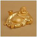 Cor do ouro afortunado chinês buda, Resina estátua de buda, Laughing buddha estátua do jardim