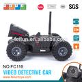 Coche fresco! 4ch&iphone android controlado de detectives de vídeo del coche eléctrico para los niños con mando a distancia