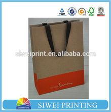 Luxury silk screen printed kraft paper bag, printed brown kraft paper bag wholesale for furniture packaging