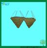 Green Moss Cone Hanging Baskets
