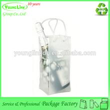Fashion design plastic clear portable wine cooler bag