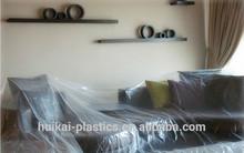 New arriver clear plastic vinyl adhesive film/clear plastic window covers/painters plastic