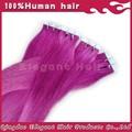 versione aggiornata estensione setosi capelli lisci blu nastro estensione dei capelli aliexpress italiano