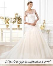 Hot selling fashion Long Sleeve lace bride wedding dress