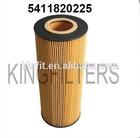 China Oil Filter Element for Mercedes Benz:541184 0225,HU12140X,E500H D129