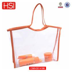 transparent pvc high quality toiletry tote bag