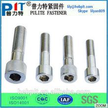 Stainless steel hex head socket cap screws and fasteners