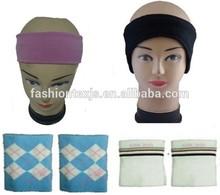cotton Gym Sports Sweat Wristband and Headband