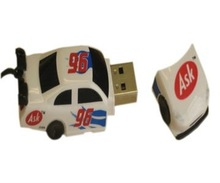 USB 8 GIG FLASH MEMORY STICK NORTON RACE CAR +STRAP COLLECTABLE