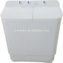 2015 new design semi automatic platic twin tub washing machine with dryer