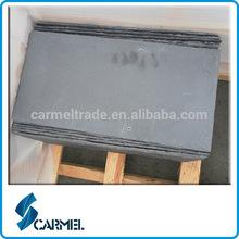 Chinese split surface black natural slate roof tile
