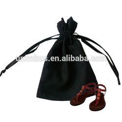 2015 custom calico cotton cloth drawstring bags,cotton drawstring shoe bags