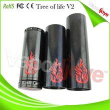 Huge vapor best e cig tree of life v2 mech mod with sturdy construction