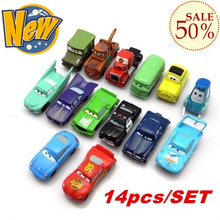 NEW!!!14PCS/SET pixar cars 2 truck sport toy cars set for kids children Christmas Gift with wholesale price