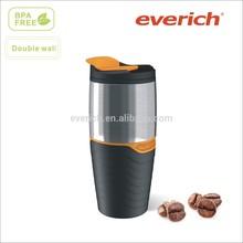 16oz promotion plastic insulated travel coffee mug