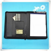 Custom PU PVC leather portfolios for promotion