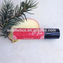 Sweet Grass & Mint Perfume Oil - Fresh Grass, Sweet Field Mint - Roll-On