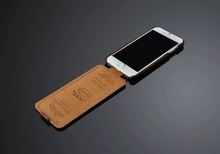 Fashion printing patterned flip leather cover for iPhone 6 case 4.7