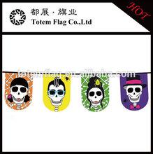 Wholesale Halloween Skull Bunting String Flag