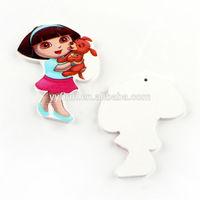 Fashion cartoon character Dora little girls wooden button, cute cartoon children sewing wood buttons
